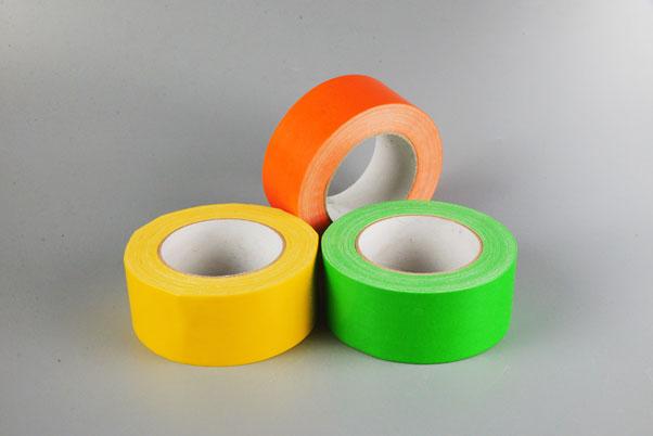 不规则摆放的彩色布基胶带