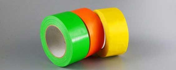 绿色橙色柠檬黄色布基胶带