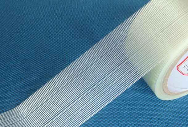 展开的条纹玻纤布纤维胶带