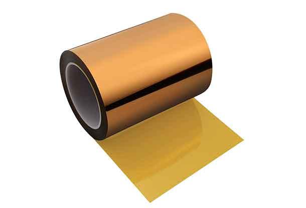 宽卷的金黄色聚酰亚胺胶带