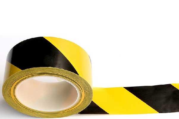 黑色黄色显眼的警示胶带