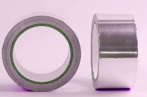 两卷铝箔胶带不同的展示方向