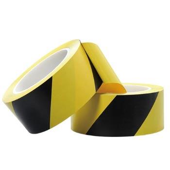 两卷黄黑相间的警示胶带